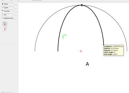 half-ellipse