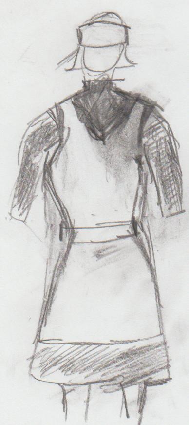 Parlour maid Sketch 2